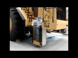 CAT 993K Wheel Loader Rear Access Egress System