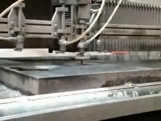 AFTER >: Waterjet cutting high pressure
