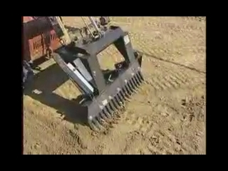 AFTER >: Ditch Witch Attachment Grading Rake