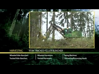 DANACH >: John Deere 959K Tracked Feller Buncher