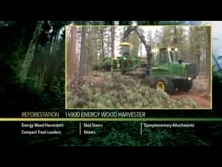 AFTER >: John Deere 1490D Energy Wood Harvester