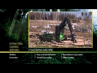 John Deere 2154D Swing Machine Loading