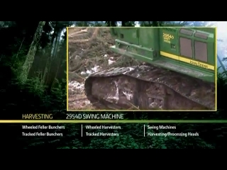 AFTER >: John Deere 2954D Swing Machine Harvesting