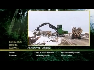 John Deere 2954D Swing Machine Loading